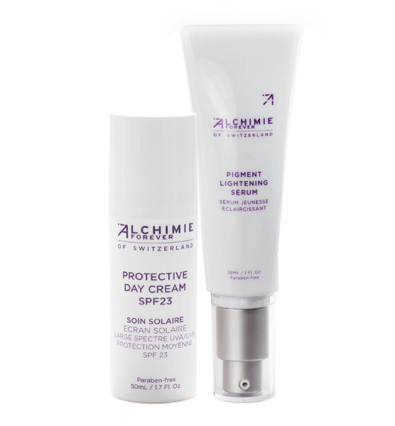 Protective day cream and Pigment lightening serum duo