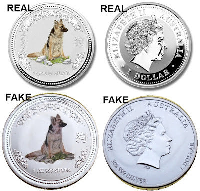 real vs fake sterling silver colour