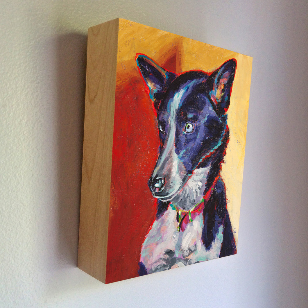 Pet Urn  - acrylic painted custom portrait