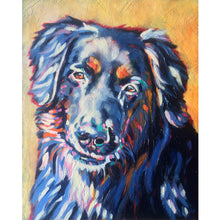 Pet Urn  - acrylic painted custon portrait of a dog