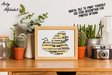 Personalised Bee Shaped Word Art Gift