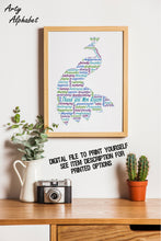 Personalised Peacock Word Art Gift