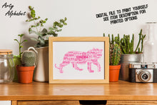 Personalised Tiger Word Art Gift