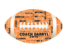 Personalised American Football Word Art Gift