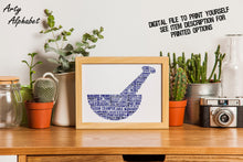 Personalised Pestle and Mortar Pharmacist Word Art Gift