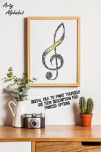 Personalised Music / Teacher Appreciation Treble Clef Word Art Gift