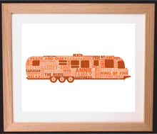 Personalised Caravan Word Art Gift
