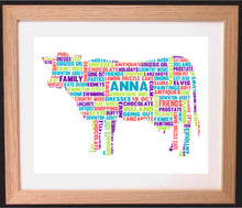 Personalised Cow Word Art Gift