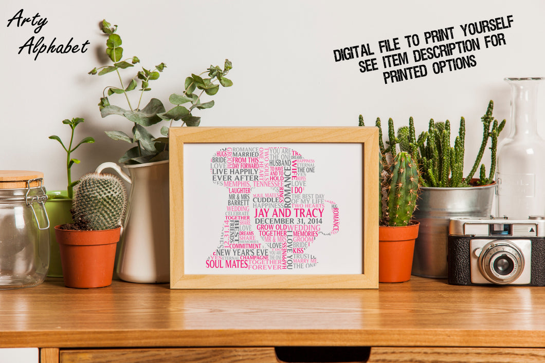 Personalised Food Mixer Word Art Gift