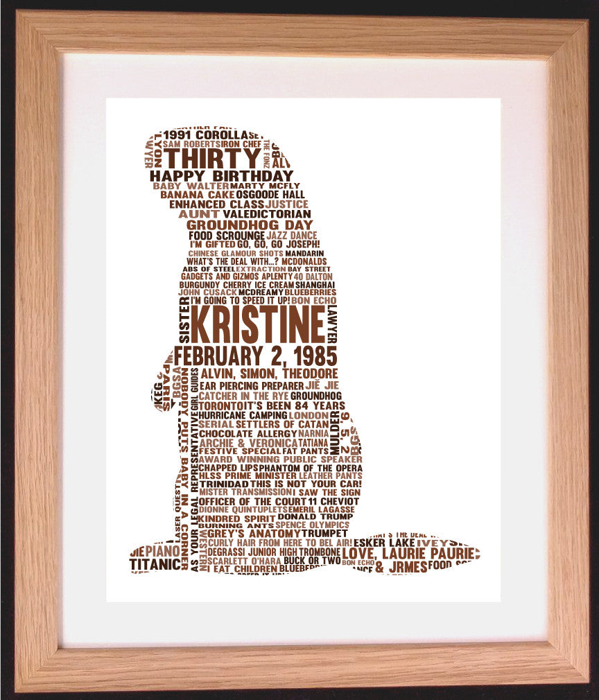 Personalised Groundhog Word Art Gift