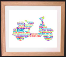 Personalised Scooter Word Art Gift