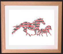 Personalised Horse Shaped Word Art Gift