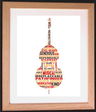 Personalised Double Bass Word Art Gift