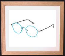 Personalised Glasses Shaped Word Art Gift