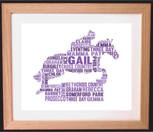 Personalised Horse Jumping Shaped Word Art Gift