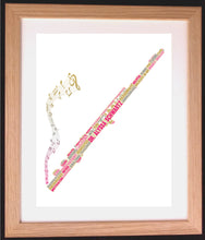 Personalised Flute Word Art Gift