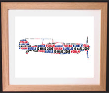 Personalised Messerchmitt War Plane Word Art Gift
