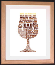 Tulip Glass Pint of Beer Birthday Word Art Gift