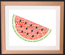 Personalised Watermelon Word Art Gift