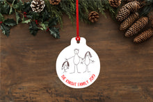 Personalised Hand Drawn Family Bauble - designs made from your children's / loved ones writing or drawings