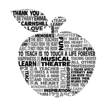 Personalised Apple Teacher Appreciation Word Art Gift