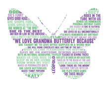 Personalised Butterfly Word Art Gift