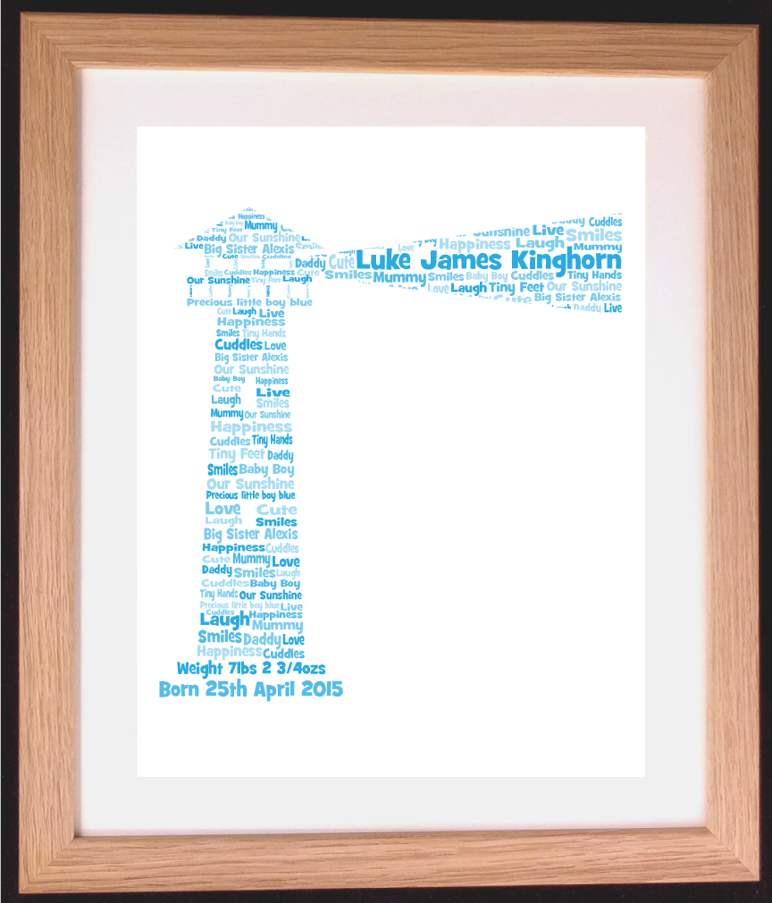 Personalised Lighthouse Word Art Gift