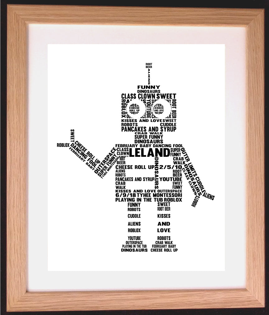 Personalised Robot Word Art Gift