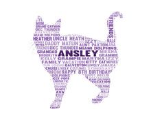 Personalised Cat Word Cloud Art Gift