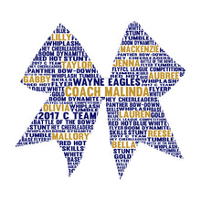 Personalised Cheerleader Bow Word Art Gift