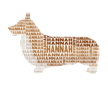 Personalised Dog Shaped Word Art Gift - choose your breed