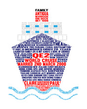 Personalised Cruise Ship Word Art Gift