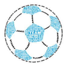 Personalised Football Word Art Gift