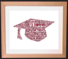 Personalised Graduation Cap Word Art Gift