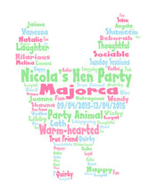 Personalised Hen Shape Birthday / Hen Party Gift