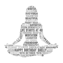 Personalised Yoga Lotus Pose Word Art Gift