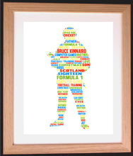 Personalised Soldier Word Cloud Art Gift
