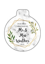 Personalised First Christmas Bauble - Married, New Home, Baby or any other occasion