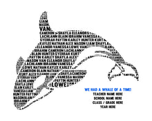 Personalised Orca Whale Word Art Gift