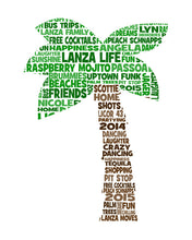 Personalised Palm Tree Word Art Gift