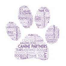 Personalised Paw Print Word Cloud Art Gift