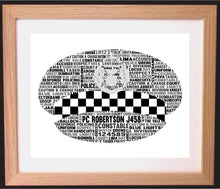Personalised Scottish Police Cap Word Art Gift