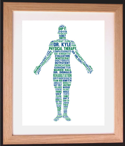 Personalised Human Body Word Art Gift