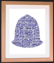 Personalised Police Helmet Word Art Gift