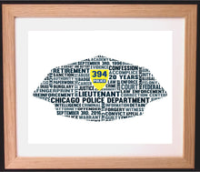 Personalised Police Cap Word Art Gift (US)