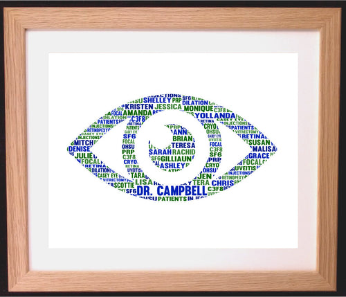 Personalised Eye Shaped Word Art Gift