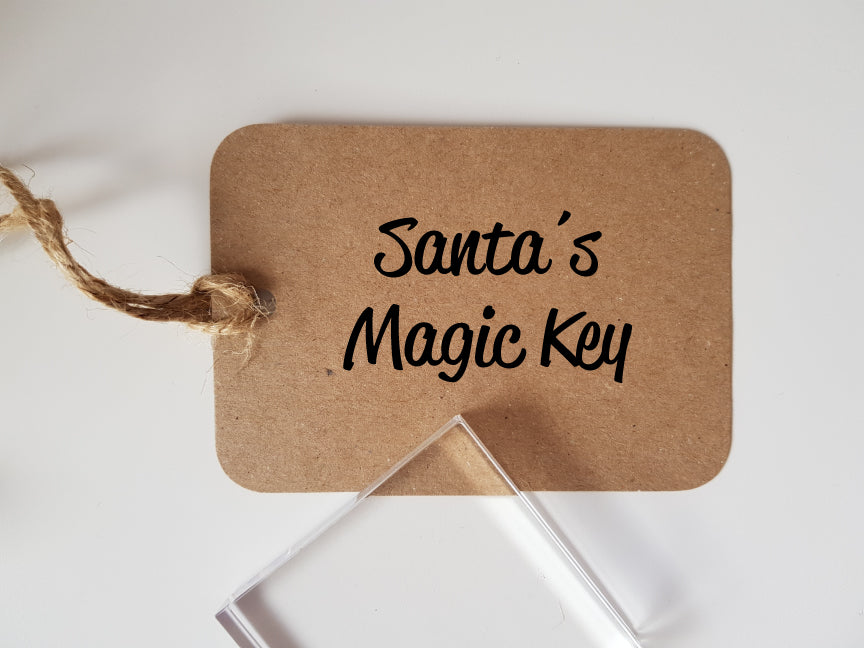Santa's Magic Key Rubber Stamp