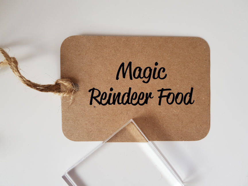 Magic Reindeer Food Rubber Stamp