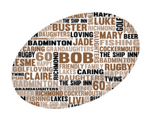 Personalised Rugby Word Art Gift