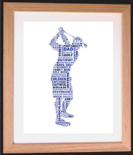 Personalised Golf Word Art Gift